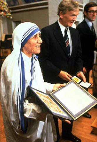 Mother Teresa Nobel Prize Winner Mother Teresa awarded ...